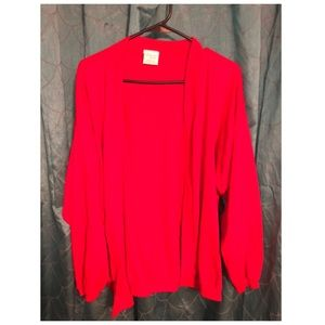 Sweaters - Red cardigan